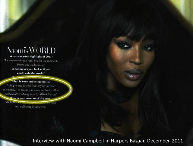 Naomi Campbell in Harper's - December 2011